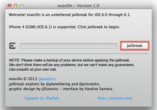 Como fazer o Jailbreak do iOS 6.1.1 com o evasi0n