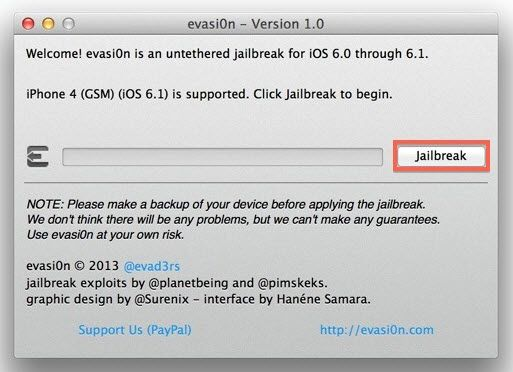 Como fazer o Jailbreak do iPhone 5/4S/4/3GS usando evasi0n [iOS 6.1/6.0]