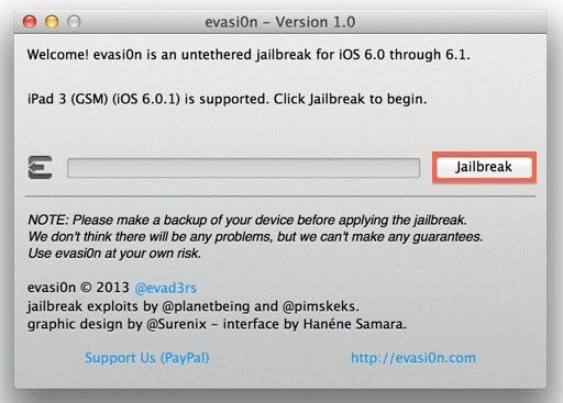 Como fazer o Jailbreak do iPad mini/iPad 4/3/2 usando evasi0n [iOS 6.1/6.0]