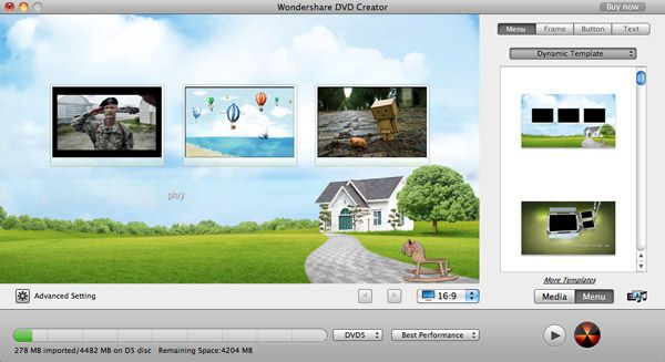 DVD Maker Mac Menu