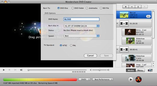 DVD Maker Mac Burning
