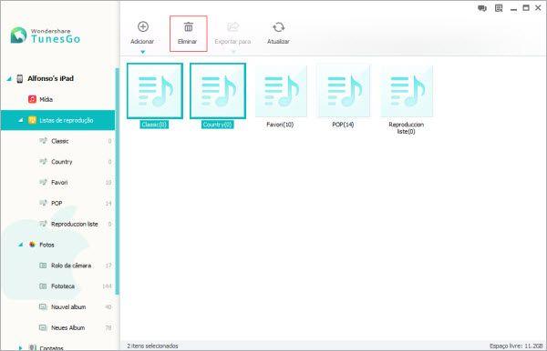 como deletar sons do ipad