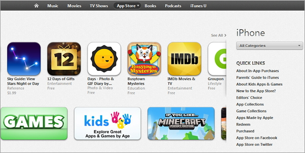 download app in itunes store