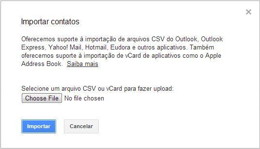 backup dos contatos do iPhone no Gmail