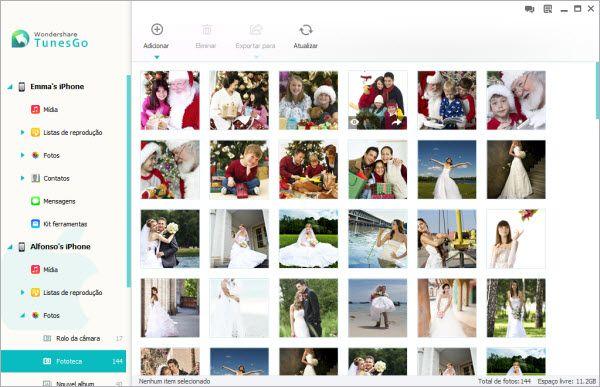 copiar fotos para iPhone
