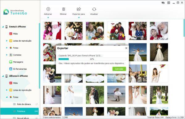 sincronizar fotos para iPhone