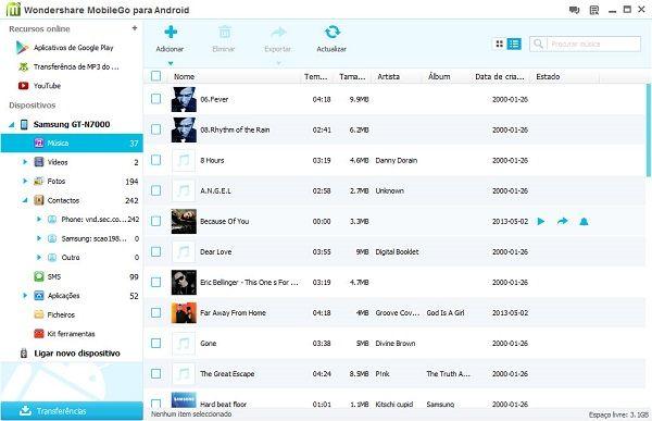 sincronizar música para android