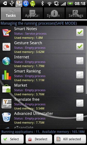 Gerenciador Memória Android