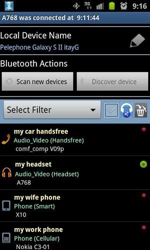 Gerenciador Bluetooth Android