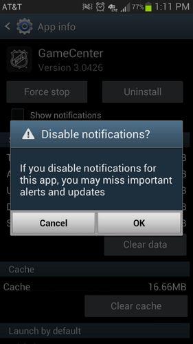 Gerenciador Notificações Android