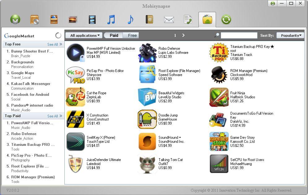 Gerenciador Desktop Android