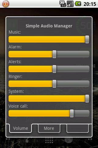gerenciador audio android