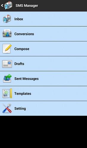 gerenciador sms android