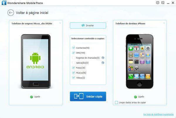 contatos do android para iphone