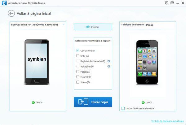 transferir contatos do symbian para ios