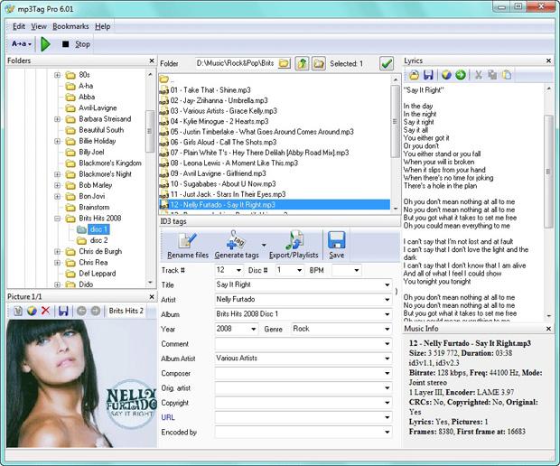 Editor de Etiquetas ID3 de arquivos MP4
