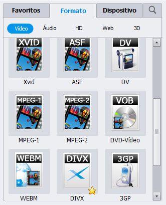 Selecione formato de saída-converter video_ts para avi no mac (compatível com Mountain Lion)