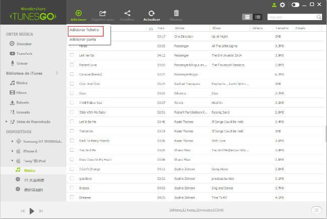 Transferir Música do PC/Mac para iPhone/iPad/iPod