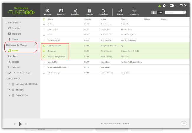 Transferir Música doiTunesparaPC/Mac
