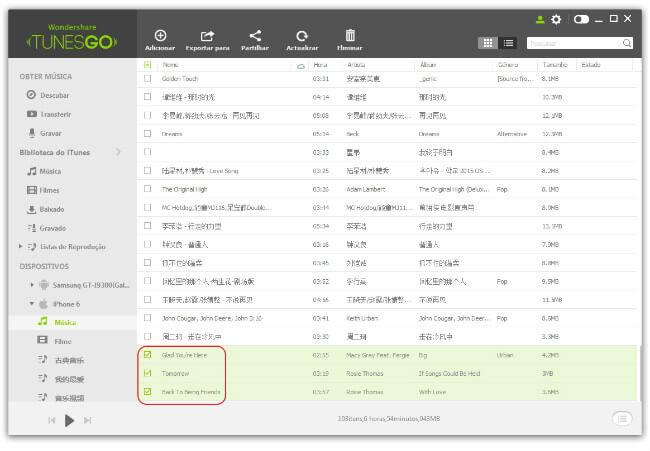 Transfeir Música doiTunesparaiPhone/iPad/iPod