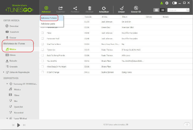 ransferir Música do PC/Mac para iTunes