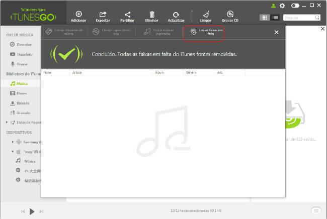 Remover Faixas em Falta do iTunes