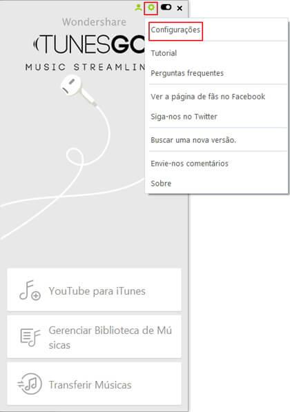 Configurar o Destino Padrão ao Transferir para o iTunes