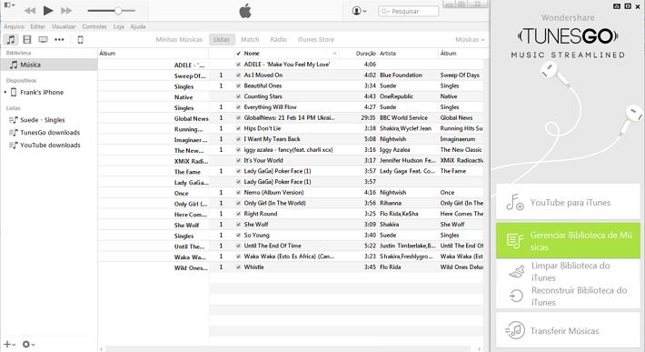 Reconstruir a Biblioteca do iTunes