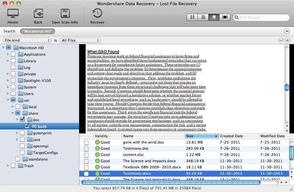 mac word documento recuperação