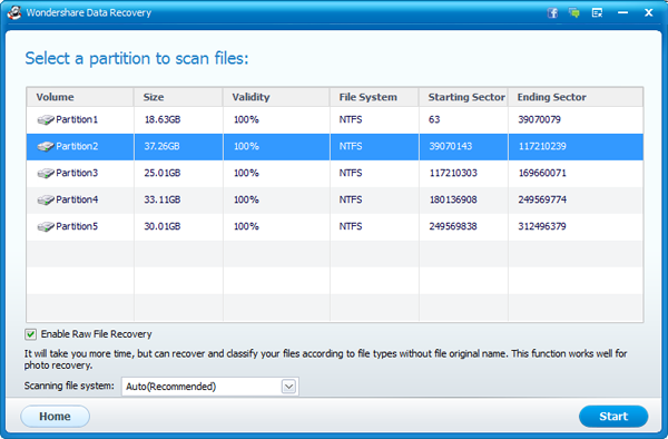 windows vista recovery partition