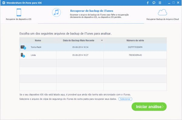 Como obter contatos de iPhone do iTunes sem o iPhone 5/4S/4/3GS
