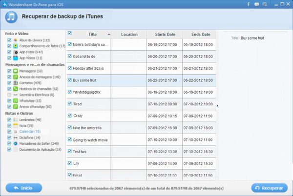 backup do iphone
