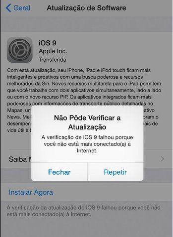 Saber Sobre a Atualização do iOS 9