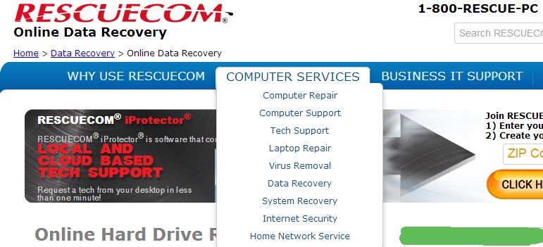 online service recovery