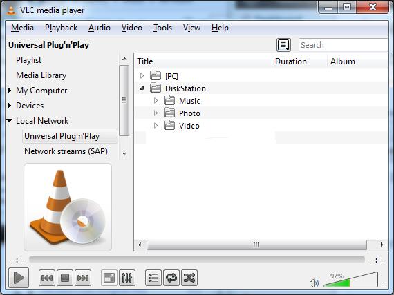 DLNA usando o VLC