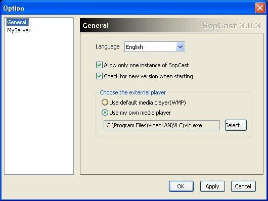 SopCast no VLC