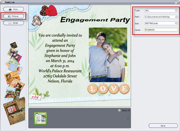 photo engagement party invitations