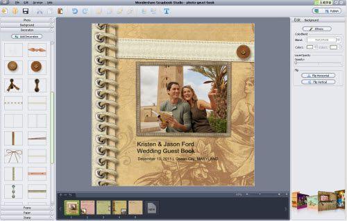 weddign guest book editing