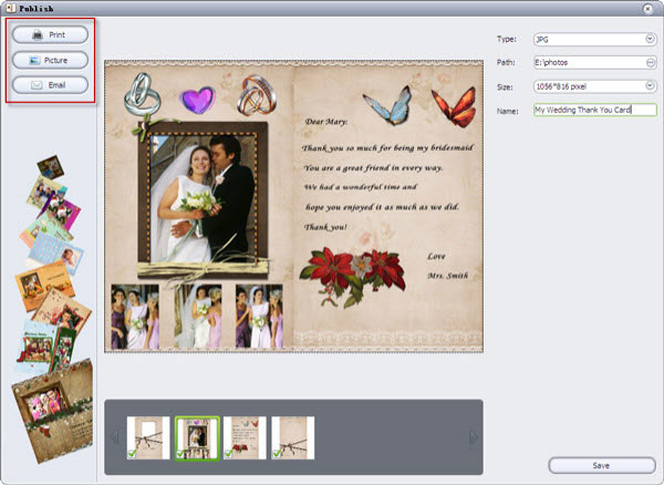 create wedding thank you cards with photo
