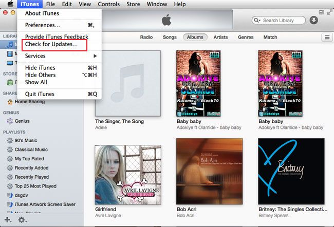 check for update itunes