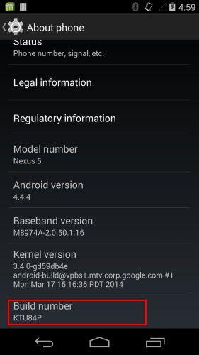 enable usb debug android 4.4