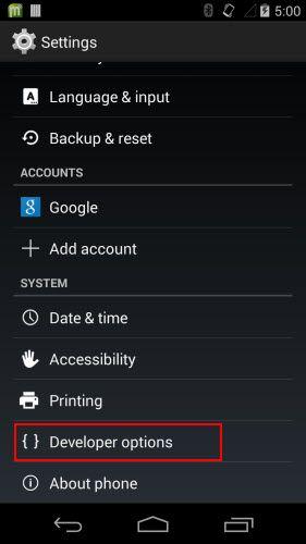 android 4.4 usb debugging