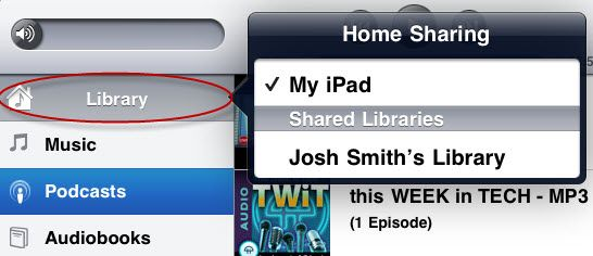 ipad home sharing