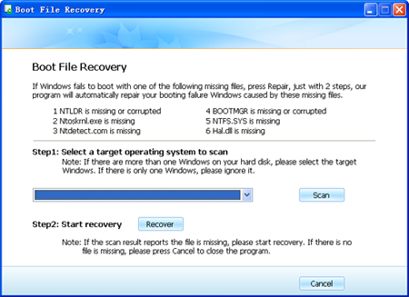 boot file recovery