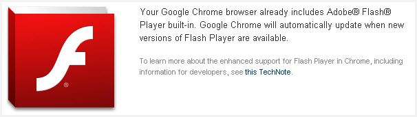 flash player youtube no chrome