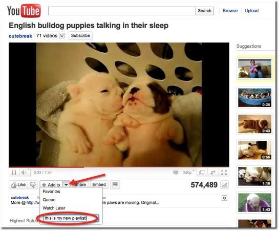 Criar listas de reprodução no YouTube