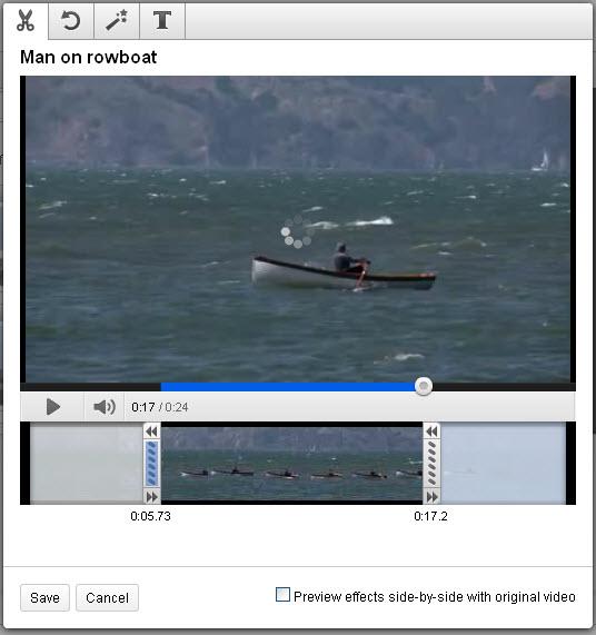youtube individual editing