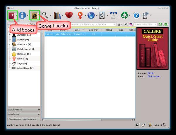 converter EPUB a Kindle
