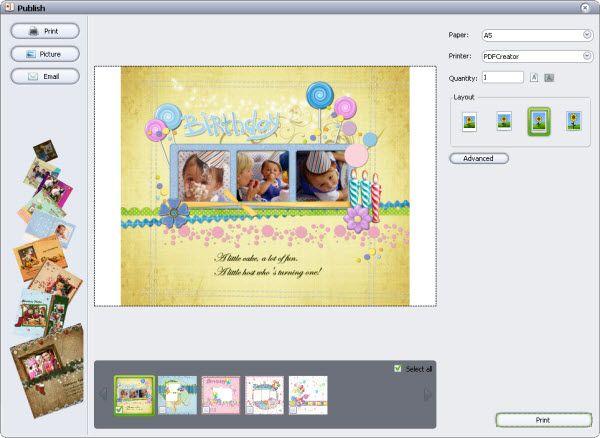 baby memory scrapbook print