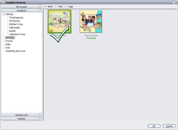 baby memory scrapbook template